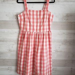 NWT J. Crew pink gingham dress